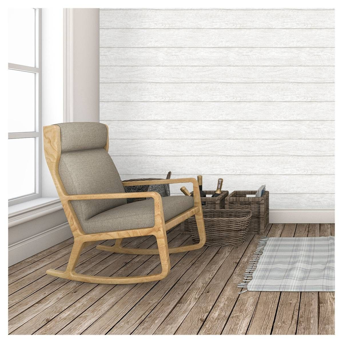 Peel and stick shiplap from Target Ikea shopping