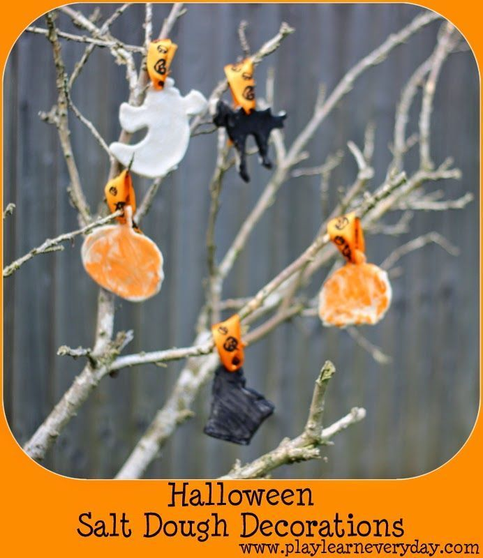 Halloween Salt Dough Decorations Salt dough decorations, Salt - preschool halloween decorations