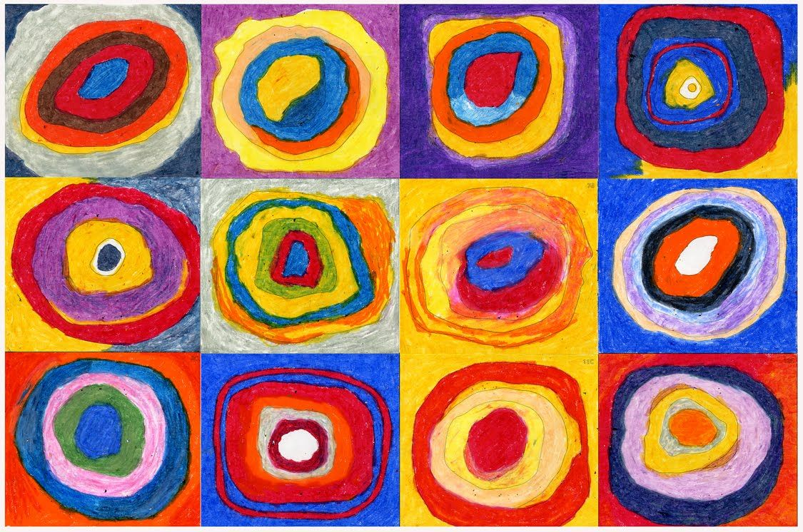 Why are you creating circles to share kandinsky art