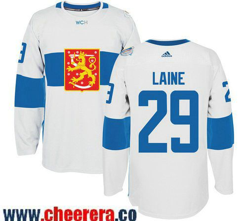 Men S Team Finland 29 Patrik Laine Adidas White 2016 World Cup Of Hockey Stitched Wch Game Jersey Nhl Jerseys Nfl Jerseys Nhl Apparel