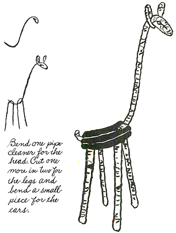 Making Giraffes from Pipe Cleaners (& other giraffe craft