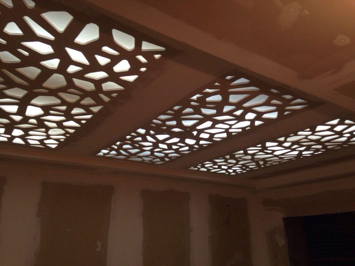 Prodigio oujda maroc cnc cutting milling pinterest for Faux plafond perfore