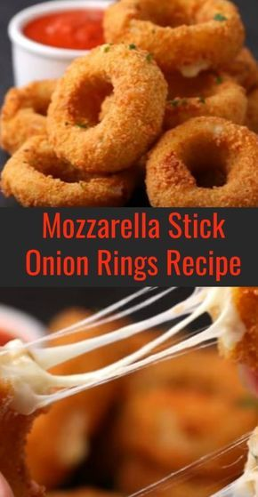 Mozzarella Stick Onion Rings #onionringsrecipe