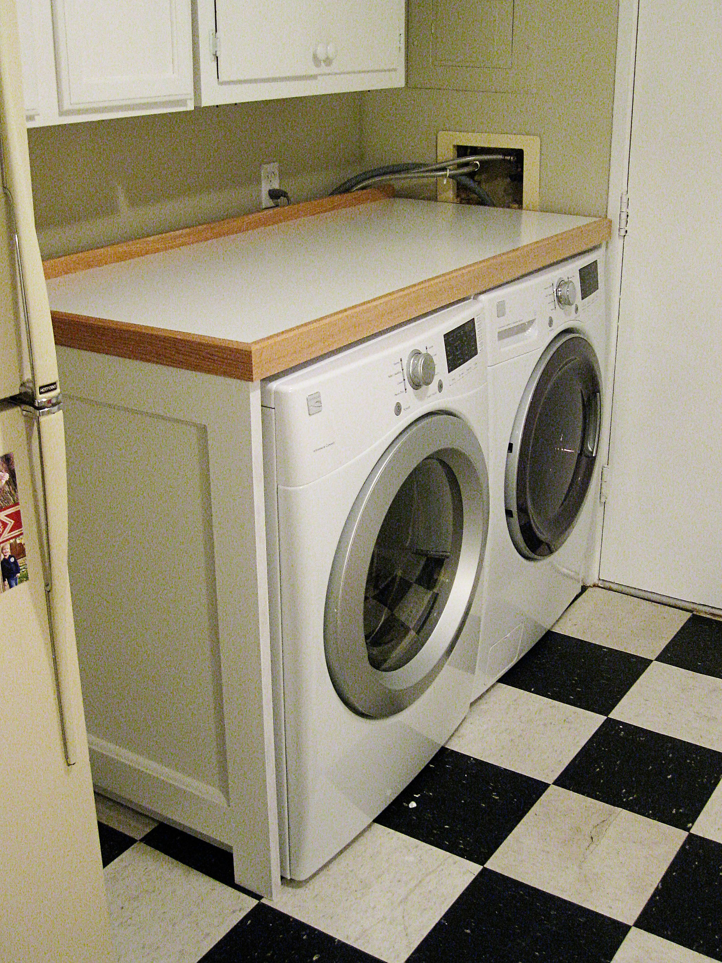 New Washer/Dryer Table Completed