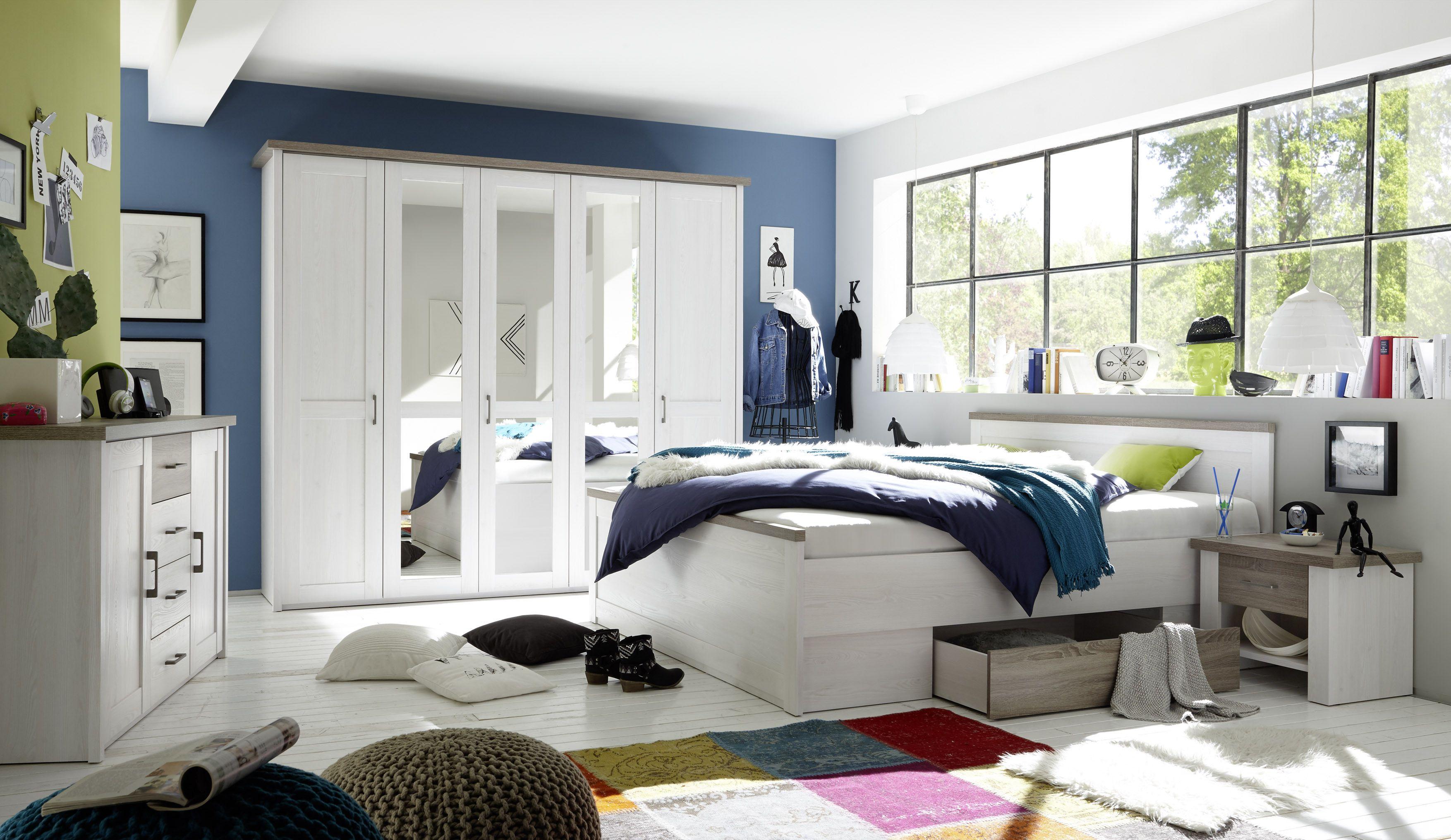 Schlafzimmer Komplett Set Inspirational Schlafzimmer Komplett Set 5 Tlg Bett 180 Kleiderschrank Di 2020