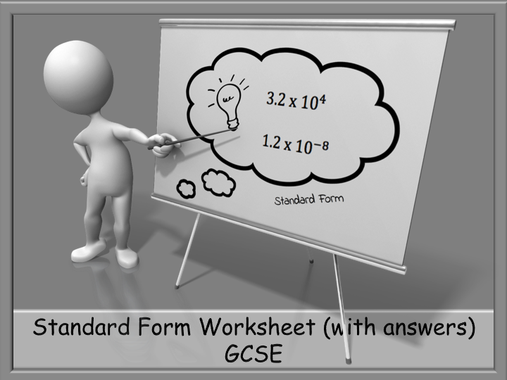 Standard Form Worksheet With Answers Gcse Standard Form