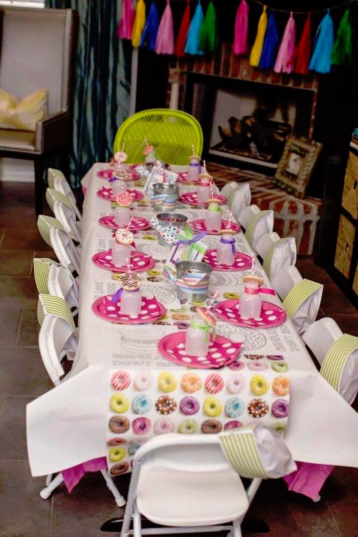 Donut Themed Birthday Party Donut Worry Birthday Party