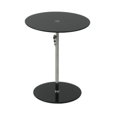 Wilbert Glass End Table Glass Side Tables Round Glass And Glass - Wayfair glass side table