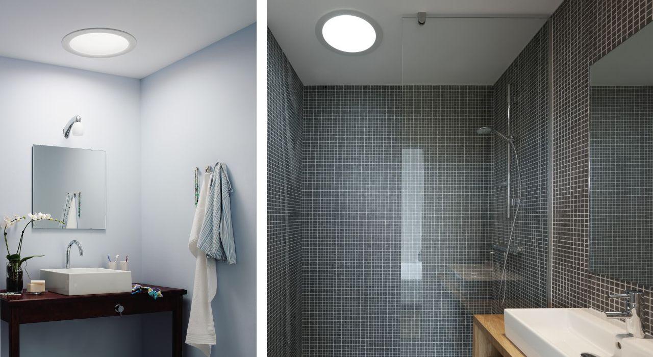 Ein Innenliegendes Badezimmer Tageslicht Dank Des Velux