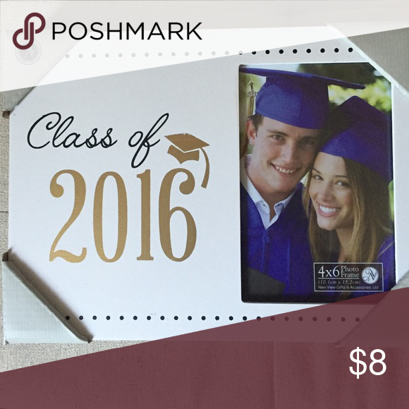Class Of 2016 Picture Frame White Box Frame With Black And Gold