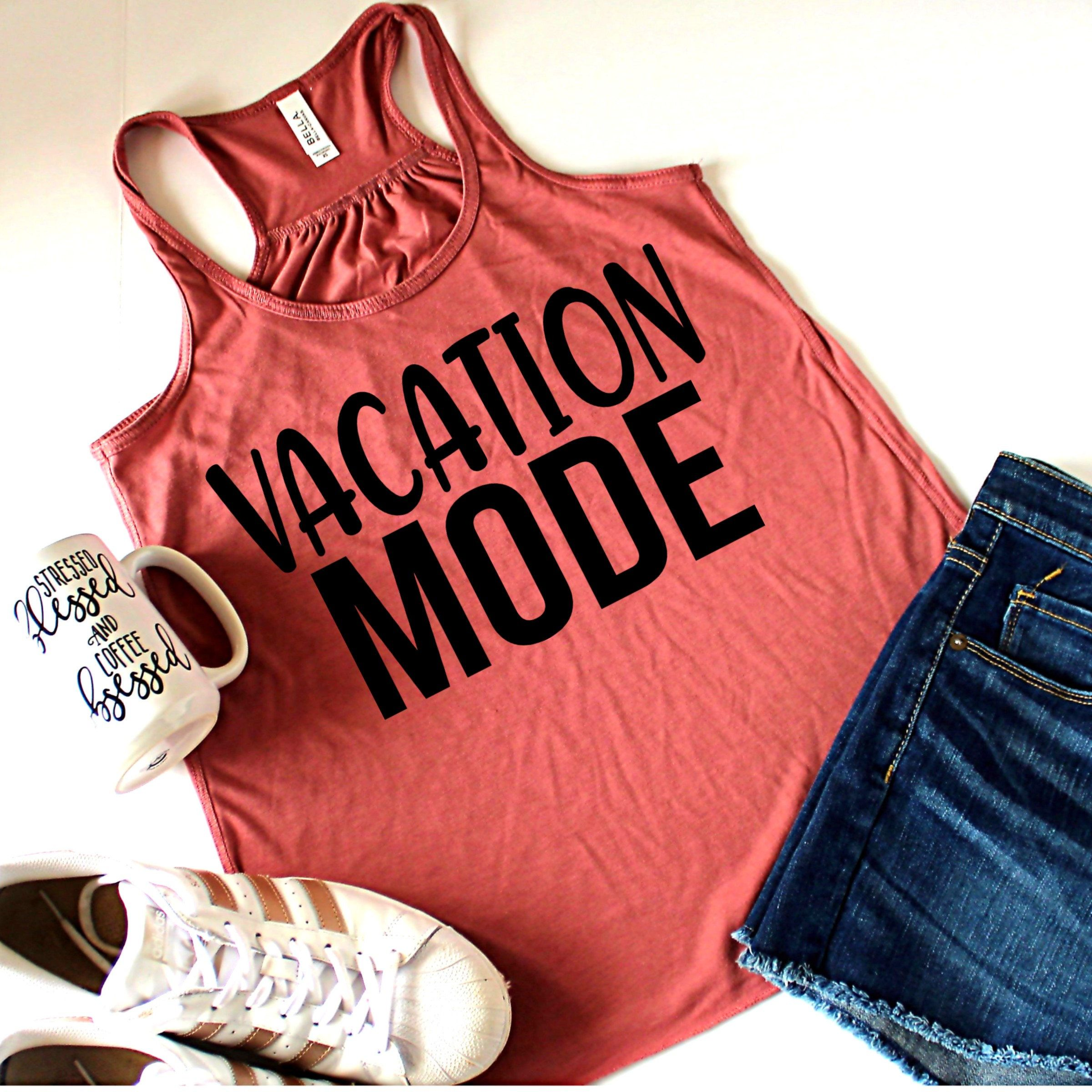 Vacation Mode Tank Top, Customize Your Color, XS-2XL ...