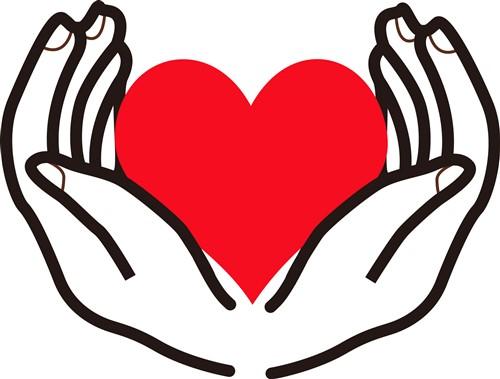 Open Hands Holding Heart Print Art in 2020 Hands