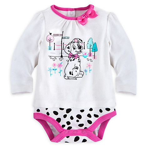 Toddler Babies Costume Outfit Disney Baby 101 Dalmations Bodysuit Vest 0-3mths