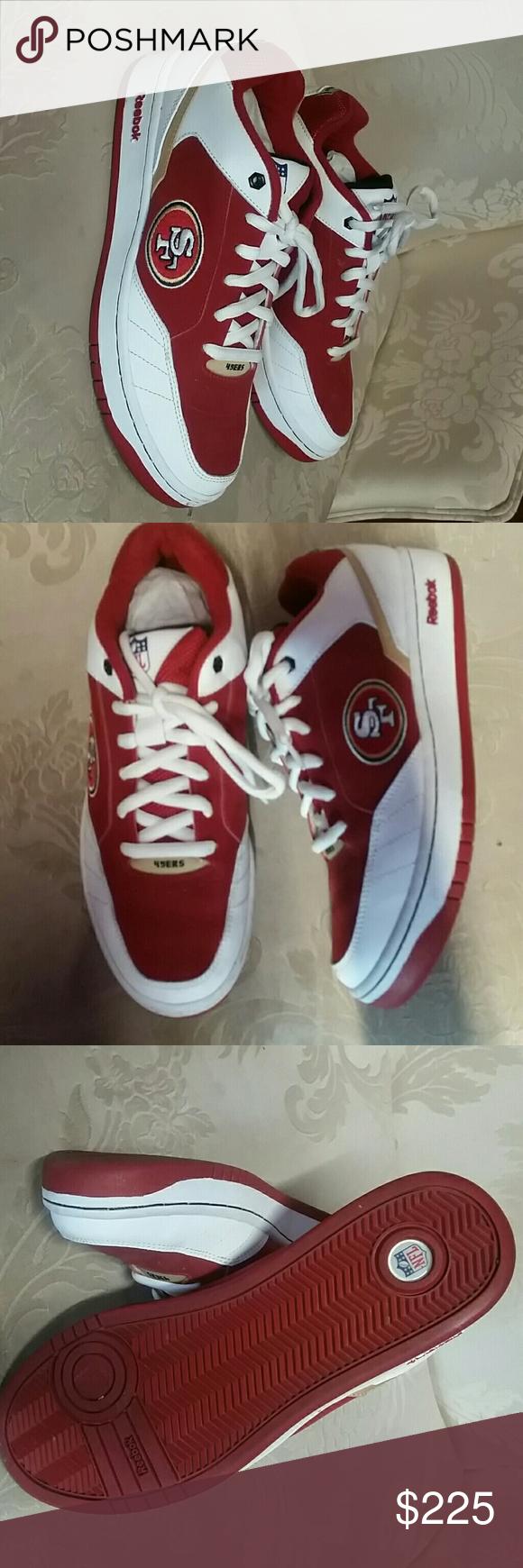 379be35c8397 Men s Rare Reebok NFL 49er s Sneakers