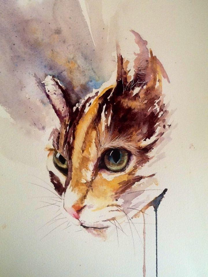 Malen Mit Wasserfarben 24 Grandiose Bilder Aquarell Katze