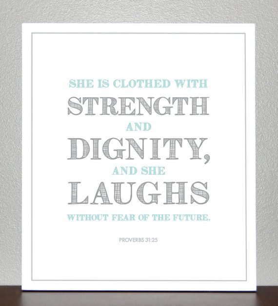 Good Quote Girl Baptism Gift Proverbs 3125 Teal And Gray