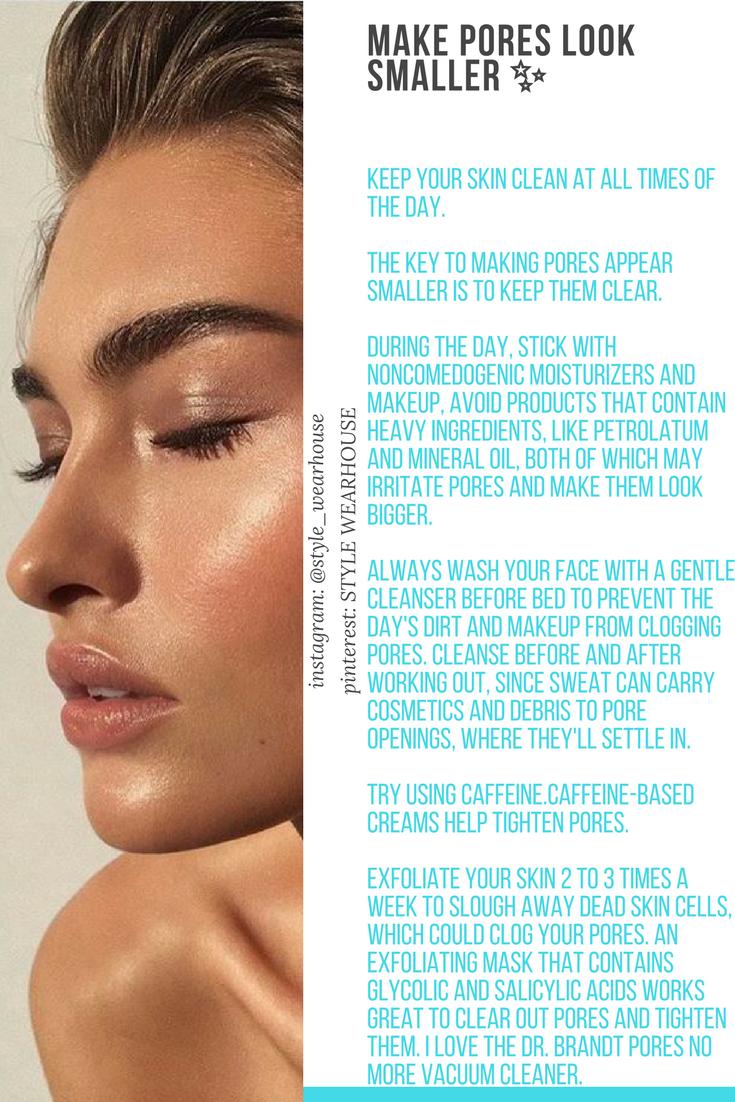 how to make pores look smaller naturally