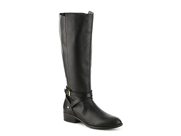 Women Lauren Ralph Lauren Mariah Wide Calf Riding Boot -Black