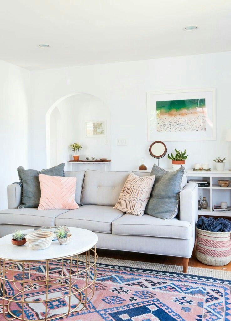 Alfombra colorida para sof gris decoracion salones hogar sal n moderno y decoraci n hogar - Alfombras para salones modernos ...