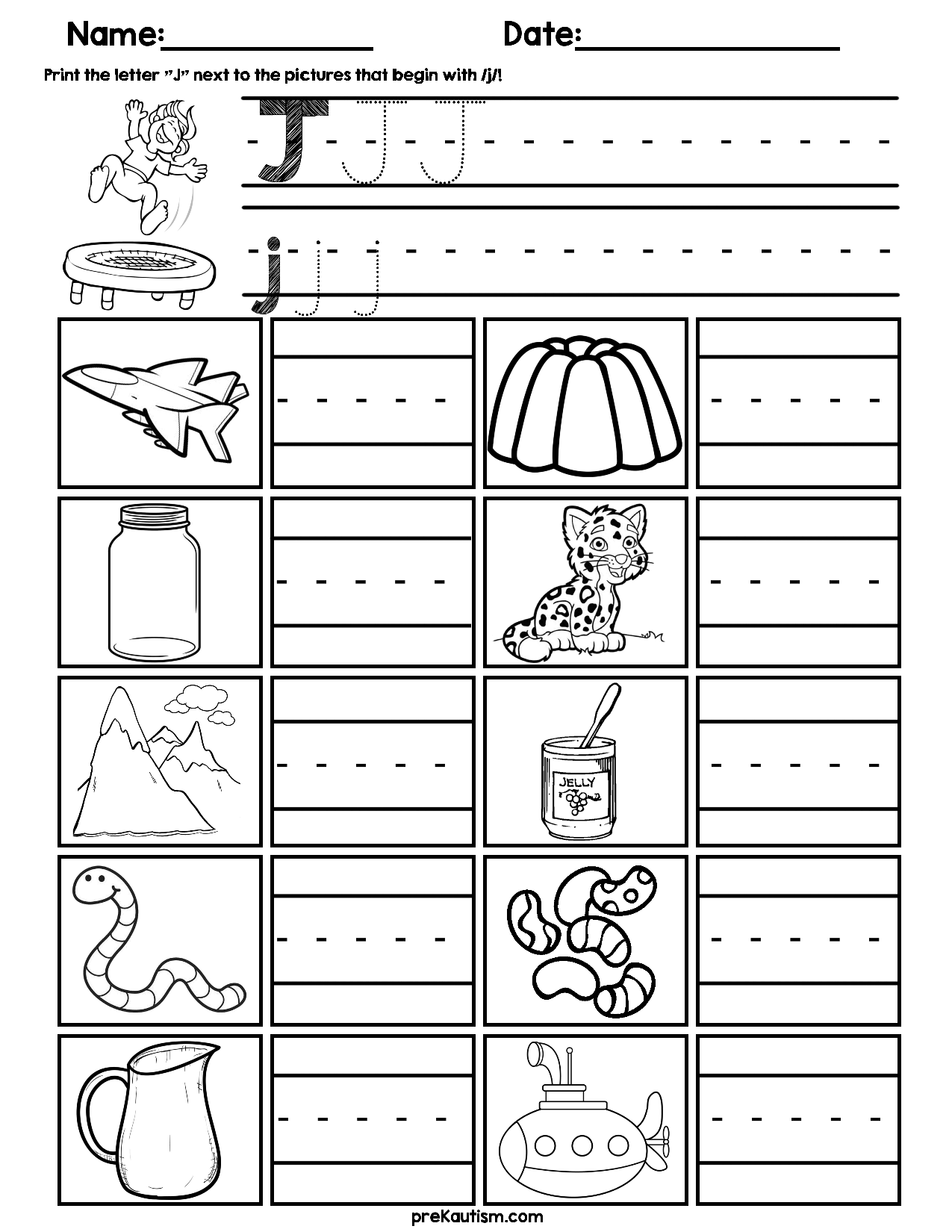 Initial K Worksheet