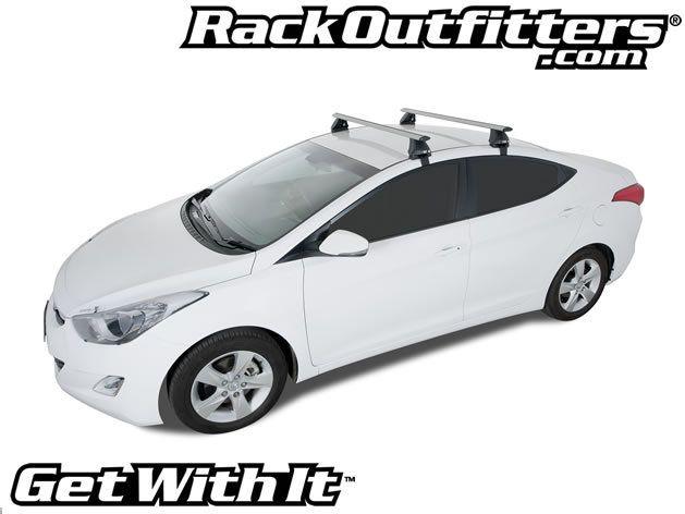 Hyundai Elantra Rhino Rack 2500 Aero Silver Base Roof Rack 11 14 Roof Rack Hyundai Elantra Elantra