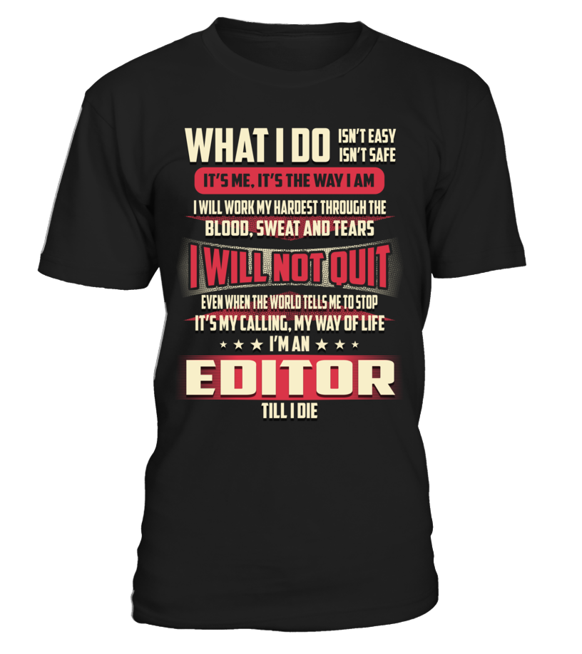 Editor - What I Do