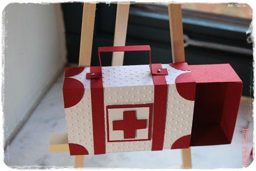 Erste Hilfe Koffer Karten Stampin Up Diy Box Und Explosion Box