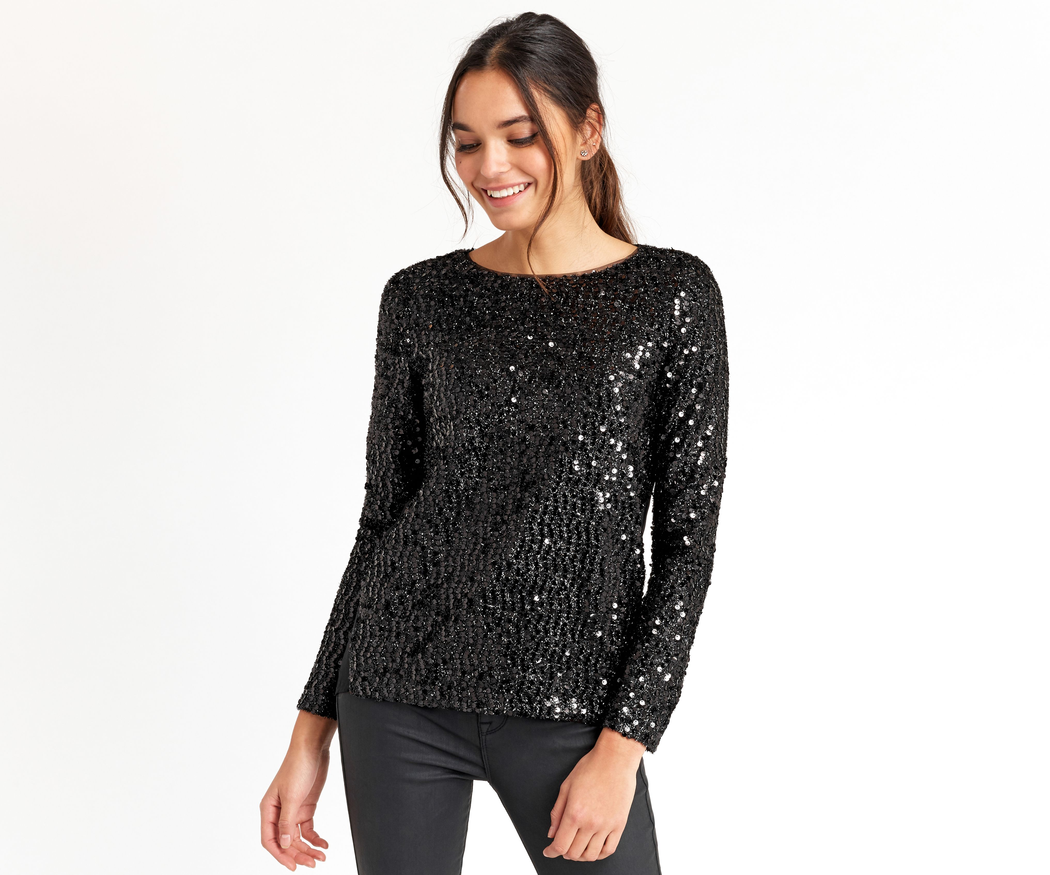 Oasis, SEQUIN SWEATER Black | Sequins | Pinterest | Sequin sweater ...