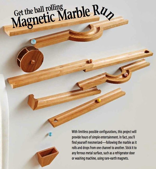 Magnetic Marble Run Woodworking Plan Downloadable Woodworking Plans Woodworking For Kids Learn Woodworking