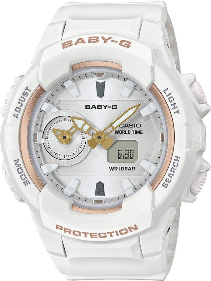 5427d67a8 G-Shock Baby-g Women's Analog-Digital White Resin Strap Watch 42.9mm ...