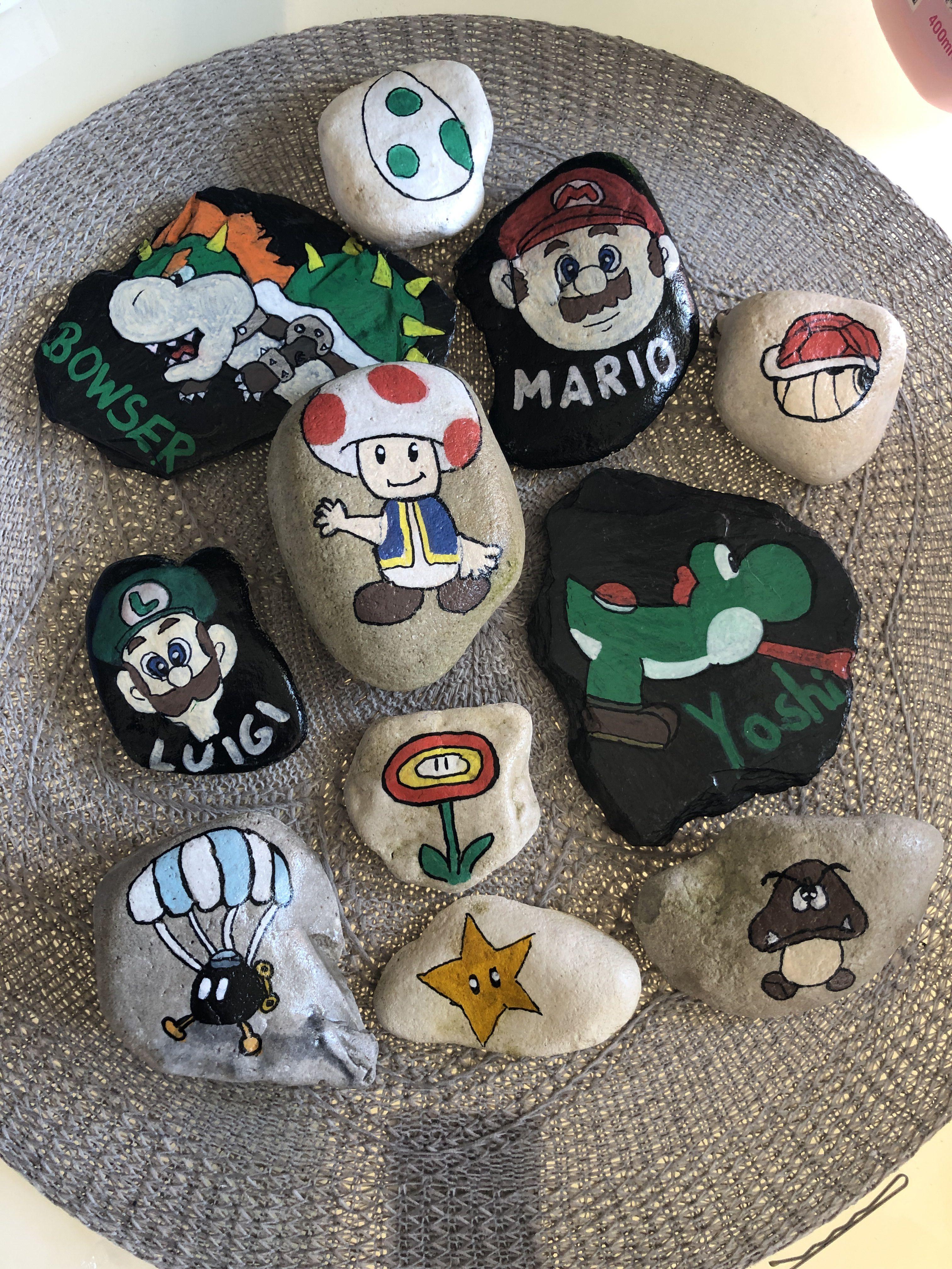 Steine bemalen super Mario | Steine bemalen | Steine bemalen ...