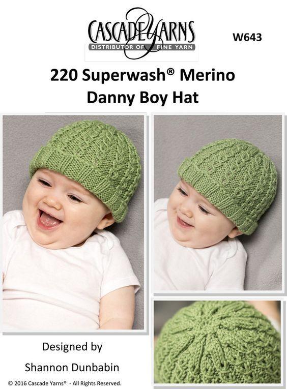 Danny Boy Hat In Cascade 220 Superwash Merino W643 Downloadable