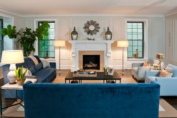 Benjamin Moore Edgecomb Gray Is One Of The Most Versatile Neutral Paint Colors Out There We Re Spo Blue Sofas Living Room Blue Sofa Living Velvet Living Room