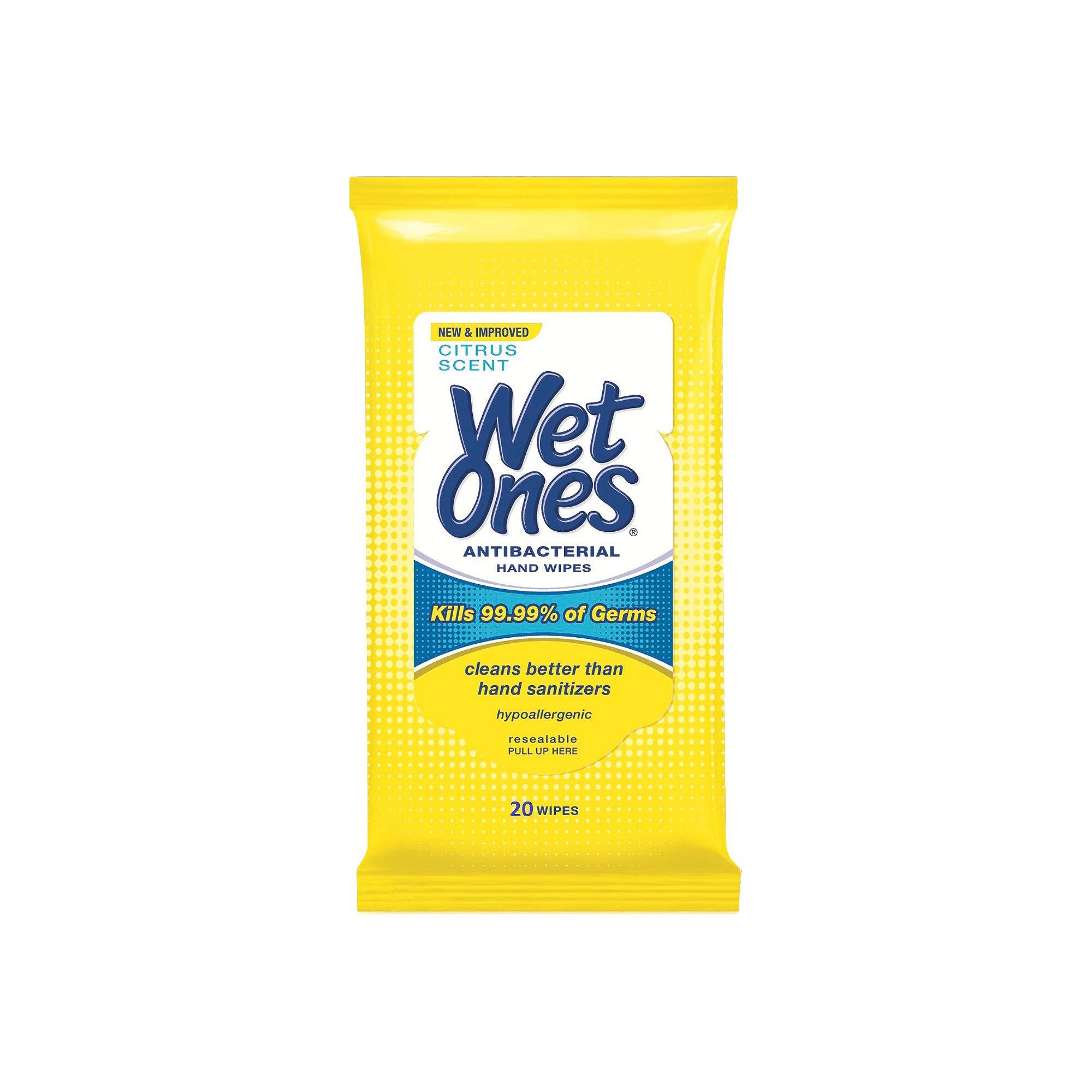 Wet Ones Antibacterial Hand Wipes Citrus Scent 20ct