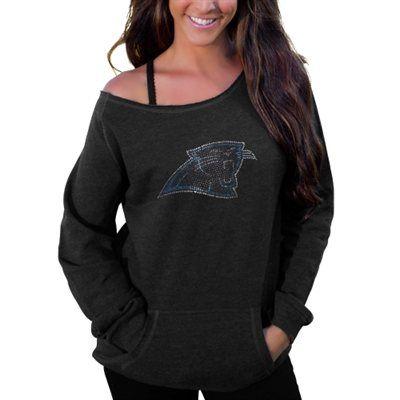 Women's Pittsburgh Steelers Antigua Black Juke V-Neck T-Shirt