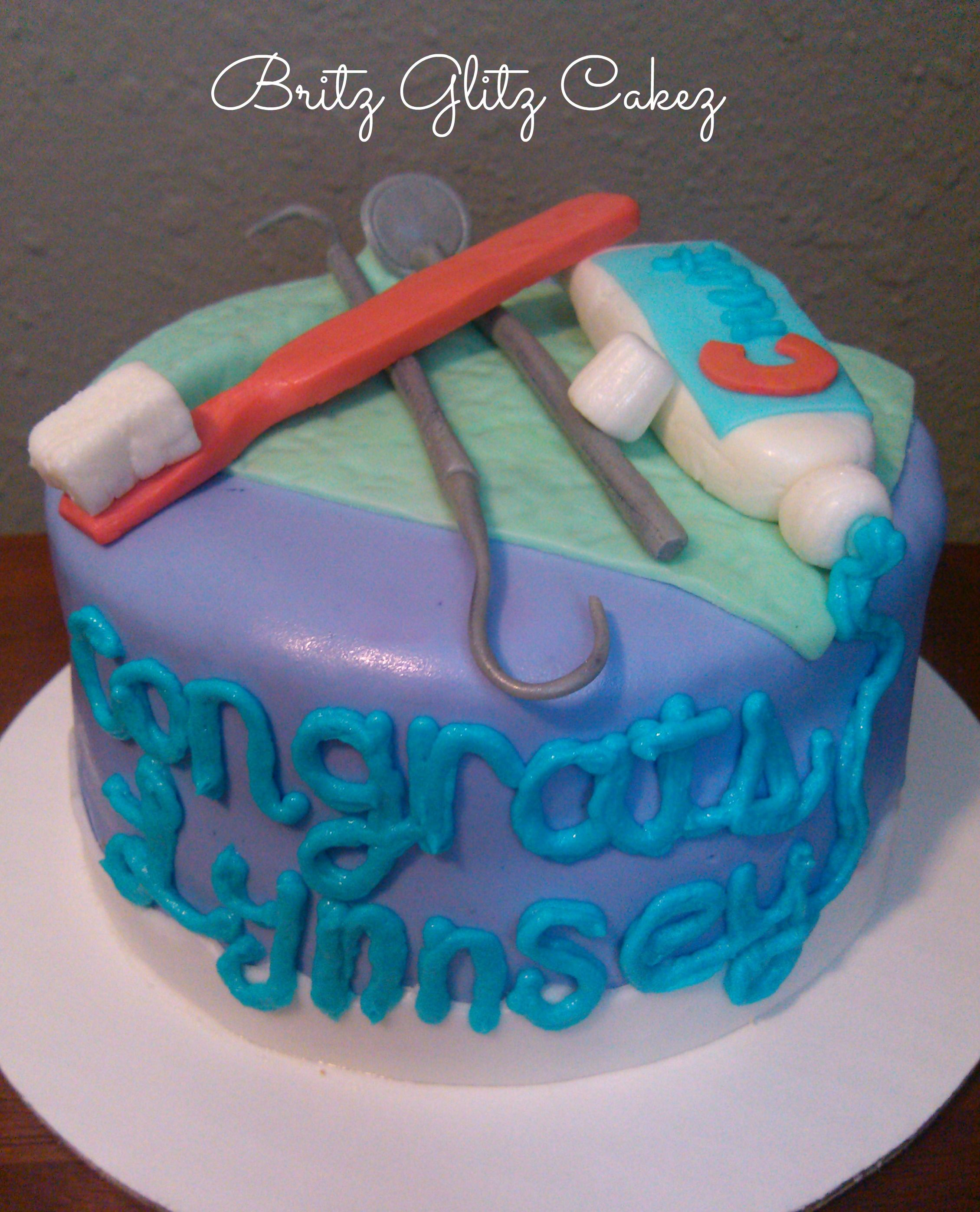 Dental Grad. Cake | My Cake Creations | Pinterest | Dental and ...