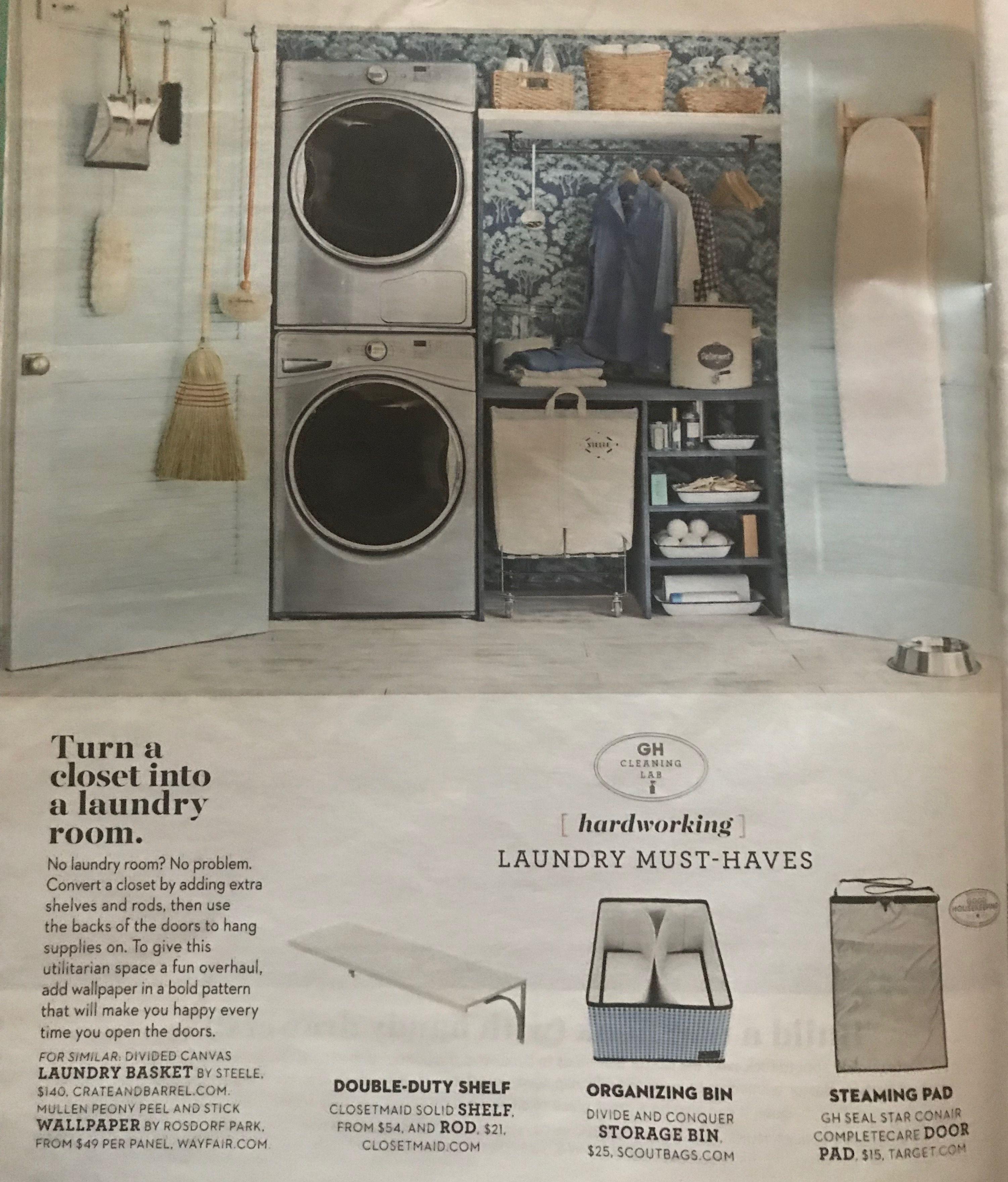 Turn a closet into a laundry room Laundry room, Laundry