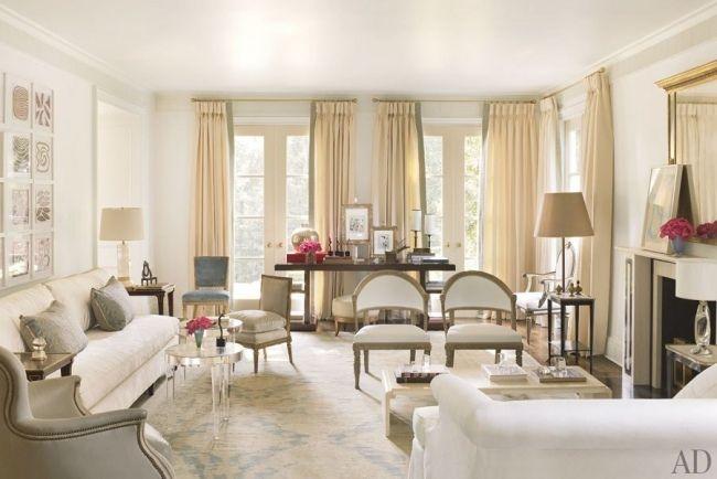 designer wohnzimmer wohnideen weiße möbelrosen glas tisch salon