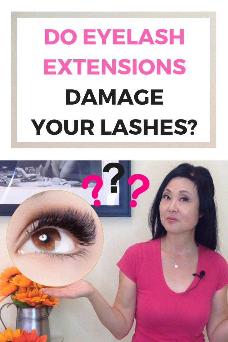 Do Eyelash Extensions Damage your Lashes?   Eyelash ...