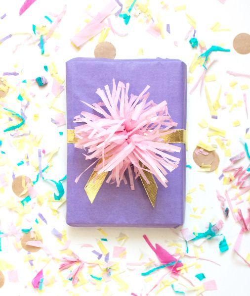 le pompon pour paquet cadeau // DIY