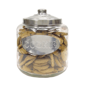 Glass Cookie Jar With Stainless Steel Top Glass Cookie Jars Cookie Jars Clear Cookies