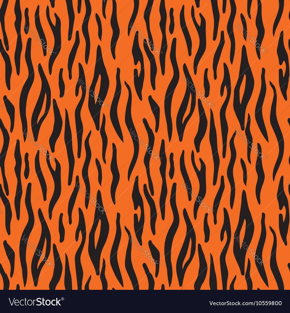abstract animal print seamless vector pattern with tiger