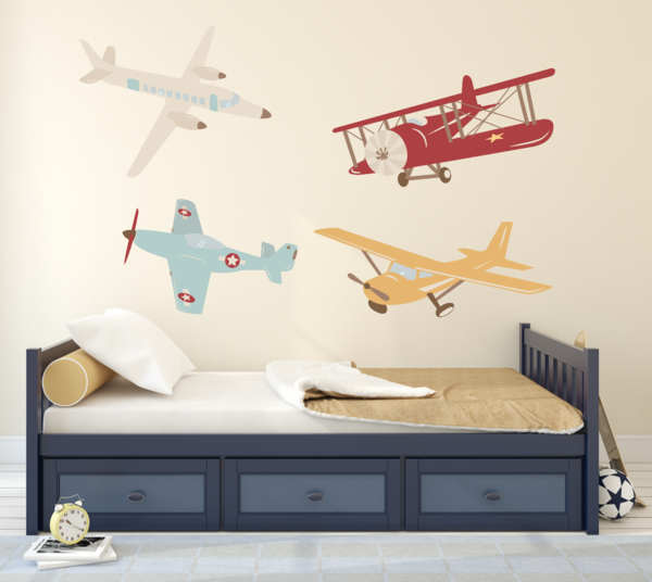Airplane Wall Decal Plane Vinyl Decor Old School Airplanes From Rockymountaindecals Ca