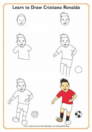 Learn To Draw Ronaldo Drawing Pinterest Soccer Drawing