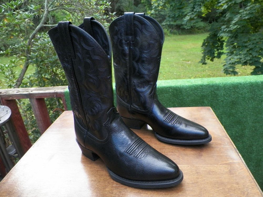6cd81eeb739 Ariat Boots Black Cowboy Dress McLintock Men's 9.5 D Style 10005958 ...