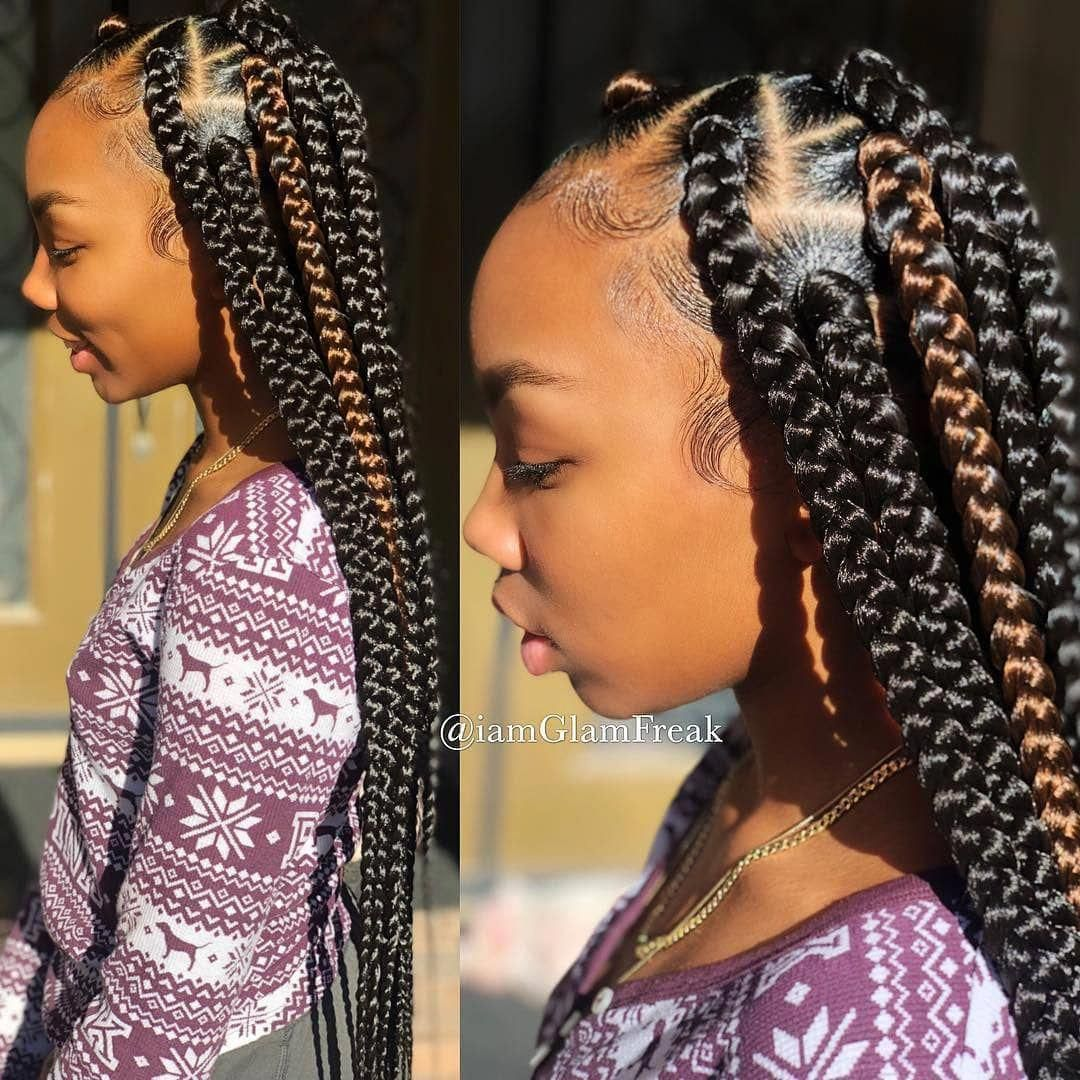 Box Braid Hairstyles Colour Dutchbraid Box Braids Styling Box Braids Hairstyles Braided Hairstyles