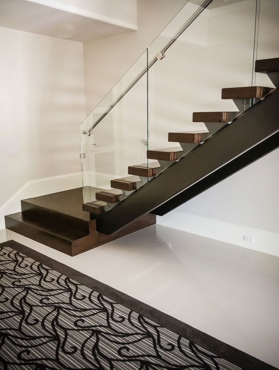 Best Luxury Residential Open Rise Contemporary Stair Design Featuring An Elegant Glass And Stainless 400 x 300