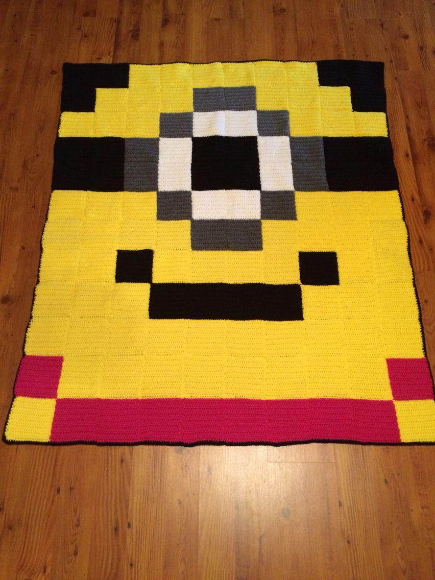 Minion 8bit crochet afghan - Crocheted Creations by Nana | crochet ...