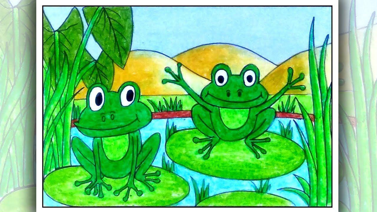 Kak Da Narisuvame Zhaba Easy Scenery Drawing Art Drawings For Kids Directed Drawing Kindergarten