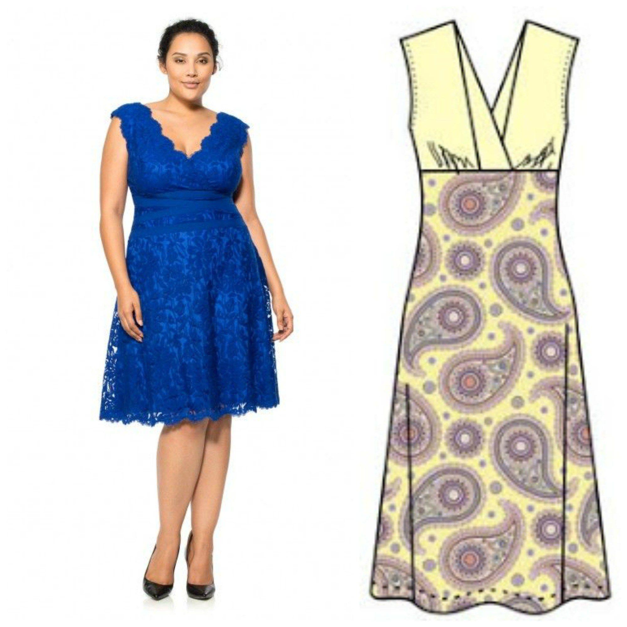 V Neck Dress Pattern Free | Sewing | Pinterest | Vero moda, Damas y ...